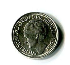 25 Cents Niederlande 1940 Wilhelmina Silber M_1093
