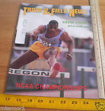 Track and Field News Jul 1988 Kevin Young cover UCLA Hurdler Reebok Shoes
