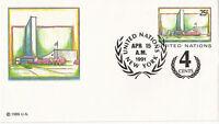 UNITED NATIONS 1991 25c + 4c PRE PAID ENVELOPE SMALL FDI NEW YORK SHS