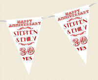 BANNER REGAL DESIGN choice of flag colours PERSONALISED WEDDING BUNTING