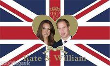 Prince William and Kate Middleton Royal Wedding Flag