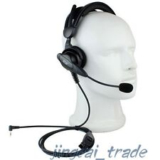 Heavy Duty Overhead Headset for Motorola Radio 1-Pin 2.5mm with boom mic 017C