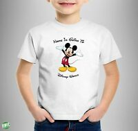 Personalised Mickey Mouse T-shirts YOUR NAME IS GOING TO DISNEY WORLD All SIZE'S