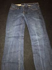 Abercrombie & Fitch New York Denim Jeans 32X34 Straight Slim Distressed Dark