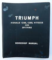 Triumph Herald 1200, 1250, Vitesse & Spitfire Workshop /Service Manual, 511243