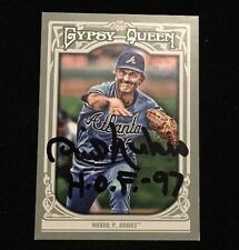 PHIL NIEKRO 2013 TOPPS GYPSY QUEEN Autograph Signed AUTO Baseball Card 116 BRAVE