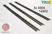 N escala 1:160 via track Schienen Trix Minitrix 4904 14904 14902 3x 312,6mm