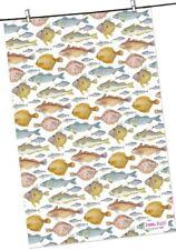 """Emma Ball """"peces"""", puro Algodón Toalla de té. impreso en el Reino Unido."""