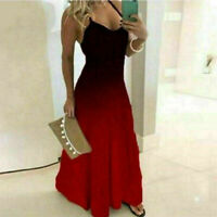 Womens Summer Sling Maxi Dress Ladies Evening Party Cocktail Boho Long Dresses