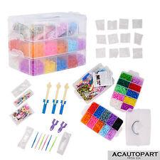 Kids DIY Gift 14000 pcs Colorful Rainbow Rubber Bracelet Loom Bands Making Kit