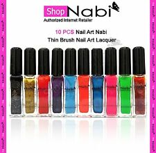 10pcs Nail Art Nabi Thin Brush Nail Art Lacquer