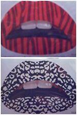 2PC Lip Tattoos Removable Temporary Red Black White Trendy Fashion Lip Transfer