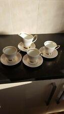 Royal Albert Capri Tea Cups And Saucers x3 And Jug