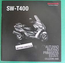 HONDA SCOOTER SILVER WING T 400 2009  PUBBLICITA DEPLIANT CATALOGO BROCHURE