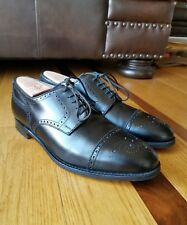 Cole Haan Cap Toe Oxford Shoe Black Leather Bench Made In England Brogue Size 11