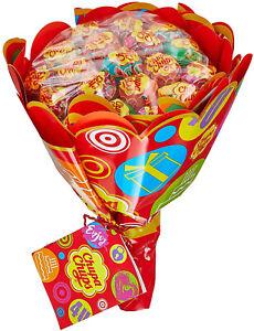 Chupa Chups Lutscher Blumenstrauss Geschenk Lolli 6 Sorten Fruchtig 228 g