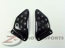 Buell XB9 XB12 S R Firebolt REAR Foot Peg Heel Guard Plate Mounts Carbon Fiber
