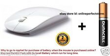 S3S TB-MW-023 Terabyte Ultra Slim Wireless Mouse 2.4 GHz Nano Receiver (White)