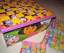 Dora The Explorer Wooden Game House~ Checkers, Dominoes, Bingo, TicTacToe, Cards