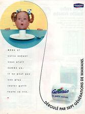 Publicité 1996  DANONE le petit suisse GERVAIS  dessert yaourt  .