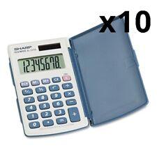 El-243Sb Solar Pocket Calculator, 8-Digit Lcd, Pack of 10