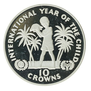 Turks & Caicos Islands - Silver 10 Crowns - 'Year of the Child' - 1982 - Proof