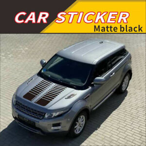 2x Car Hood Racing Stripe Graphics Decal Glossy Black Vinyl Sticker Accessories