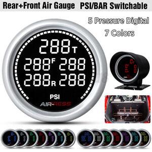 Universal 2'' 52mm Air Suspension Pressure Gauge Bar PSI Air Ride Meter W/sensor