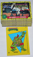 100% CLEAN Teenage Mutant Ninja Turtles  TMNT Cartoon 1. 88 cards & 11 Stickers