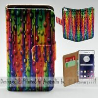 For OPPO Series - Teardrop Straw Theme Print Wallet Mobile Phone Case Cover