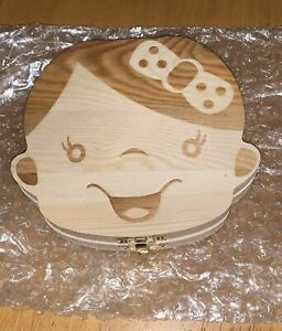 BABY GIRL'S FIRST MEMORIES WOOD BOX / FIRST TEETH, ECT.