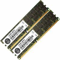 Memory RAM 4 Server DDR PC2700 333MHz 184-pin RDIMM ECC Registered 1,2x LOT UK