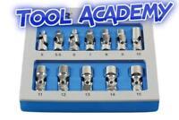 UJ Universal Joint Socket Set 1/4 Drive In Foam Module 5-15mm