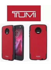 TUMI Coated Canvas Co-Mold Case for Moto Z2 Force Edition Red Black NEW OEM