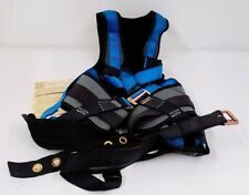 FrenchCreek production Blue/Gray Safety Harness Size 3XL (072315-01A)
