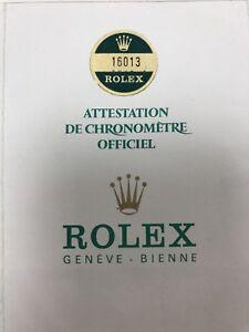 Original Vintage  Rolex 16013 Watch -  Blank Certificate Guarantee 7326734  #30