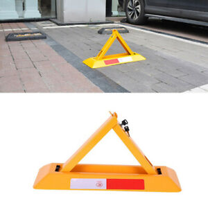 Triangle Parking Space Lock Bollard Folding Barrier Driveway Security Post Bolt