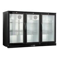 "Procool Counter Height 54"" Wide 3-door Glass Back Bar Cooler Fridge"