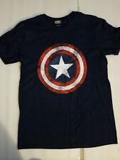 NWOT Marvel Comics Captain America Shield Distressed Navy t-shirt sz M Patriotic