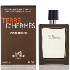 Terre D'Hermes for Men by Hermes Eau De Toilette Spray Refillable 1.0 Oz-NIB