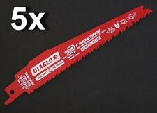 "5 X FREUD DIABLO 150MM 6"" 8/14 TPI DEMO DEMON DS0614BGP RECIPROCATING SAW BLADES"