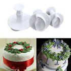 Fondant Cake Cutter Plunger Cookie Mold Sugarcraft Flower Leaf Decorating Mould