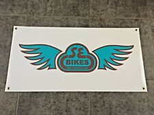 SE Bikes banner sign shop wall garage bicyle BMX bike PK Ripper jump cruiser