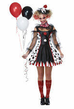 California Costume Twisted Clown Circus Adult Womens Halloween Costume 01435