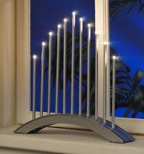 LED Lichterbogen Adventslicht Weihnachtsleuchter Pyramide Silber SL19-1, B-Ware