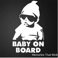 BABY ON BOARD  Funny Car Window JDM VW VAUXHALL Novelty Vinyl Decal Sticker v1