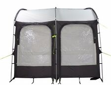 260 XL LIGHTWEIGHT CARAVAN PORCH AWNING - CHARCOAL with STORAGE BAG