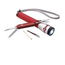 New Victorinox Swiss Flashlight Red Handle 4.8 Watt LED w/ CLASSIC SD KNIFE TIN