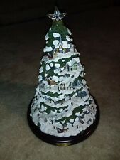 "2004 Bradford Exchange Thomas Kinkade Village Christmas Illuminated Tree 15""tall"