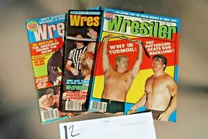 VTG Pro Wrestling Magazine Lot of 3 Wrestling WCW WWF NWA WCCW 70s Excellent..